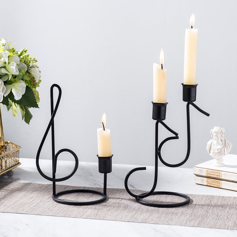 Nordic Music Note Candle Holder