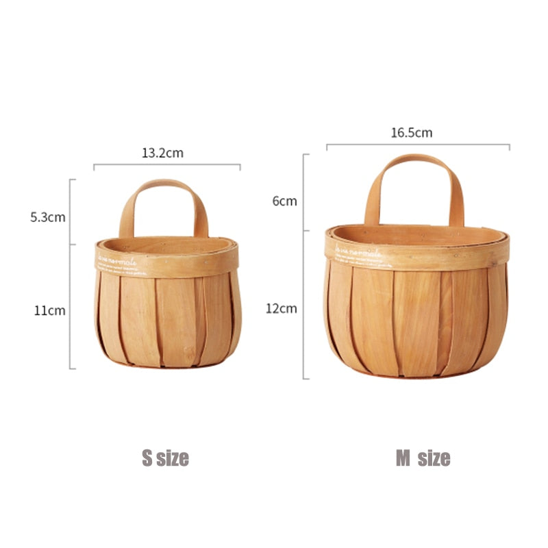 Elegant Hand - Woven Wood Storage Basket
