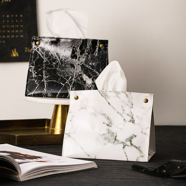 Luxury Marble Tissue Box - LEMI Décor