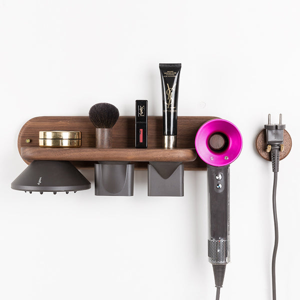 Creative Minimalism Wooden Nordic Hair Dryer Holder - LEMI Décor