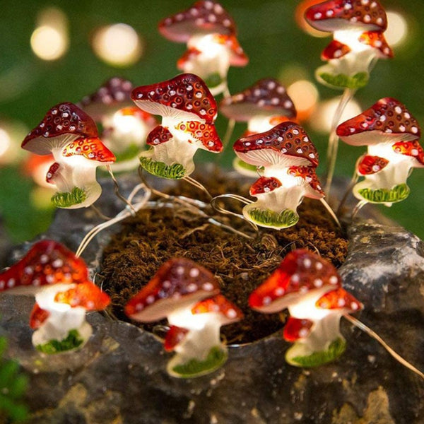 Mushroom LED String Lights
