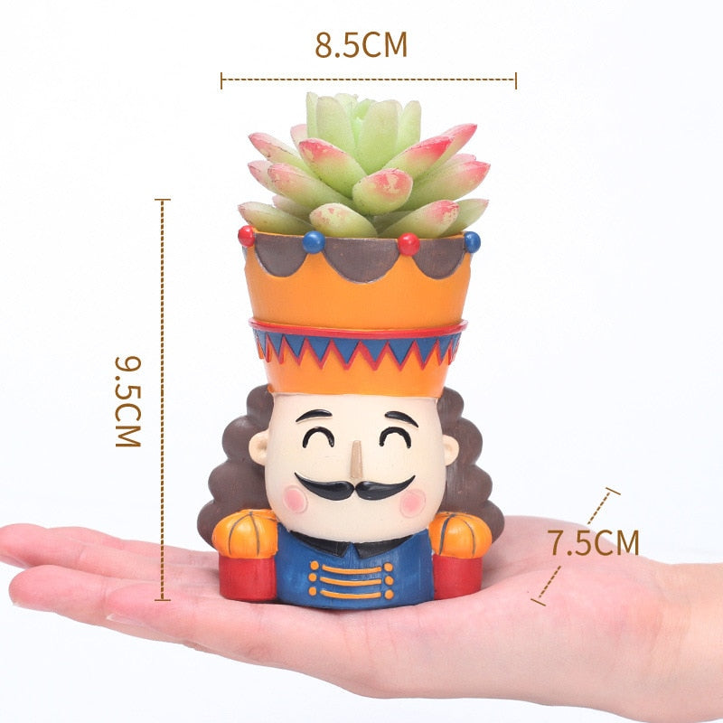 Nutcracker Resin Succulent Planters
