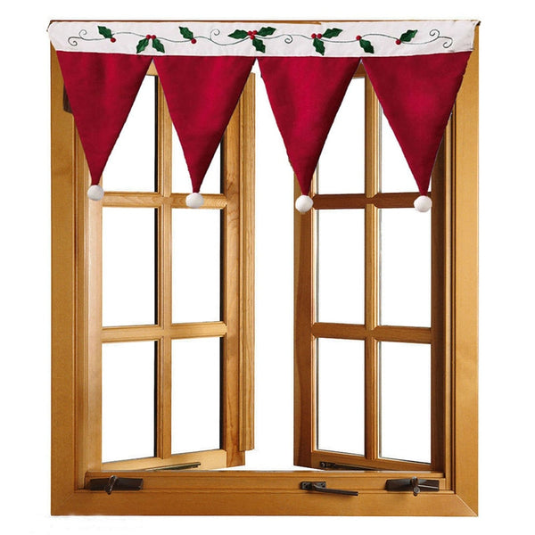 Christmas Hat Window Valance