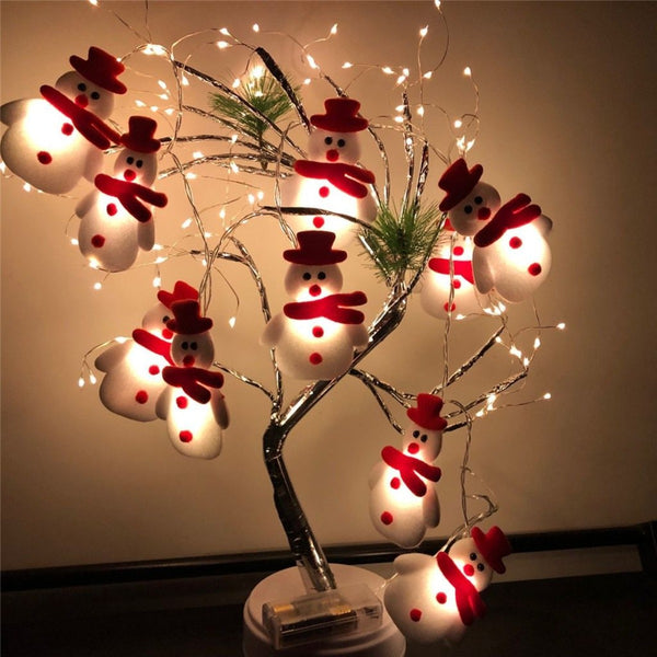Merry Snowman LED String Lights