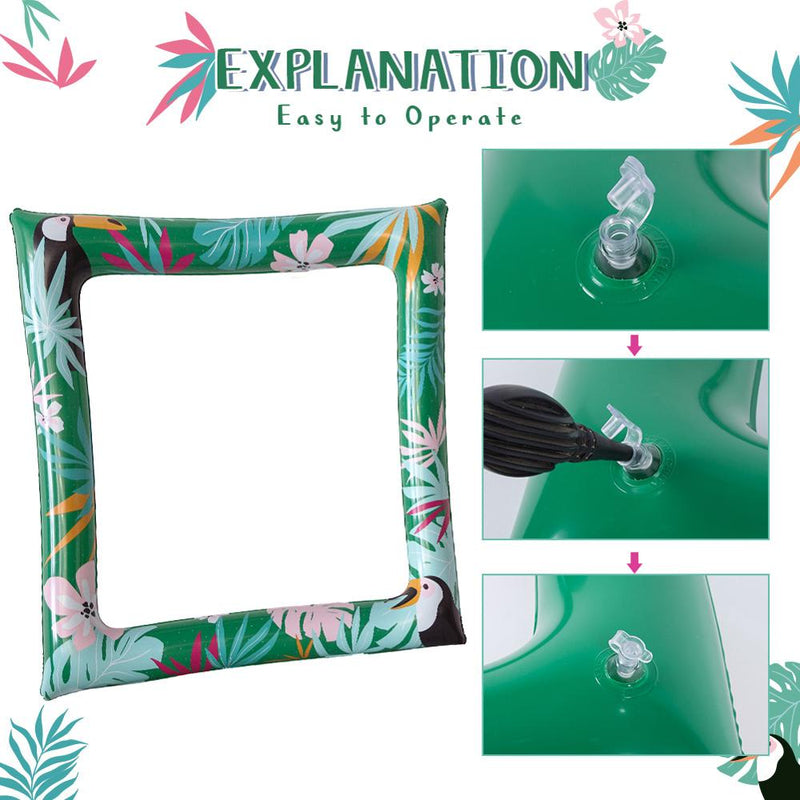 Toucan & Palm Leaves Inflatable Photo Frame