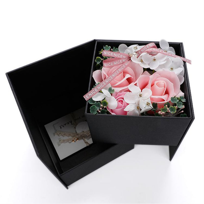 Jewellery Storage Gift Box with Soap Flower