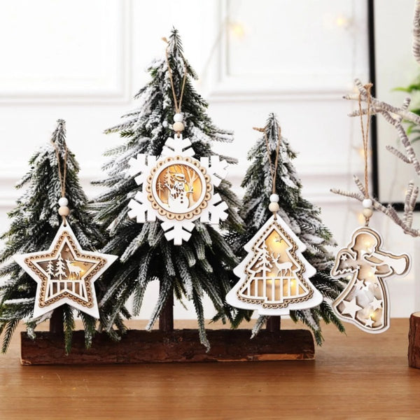 Wooden Christmas Lights Craft - LEMI Décor