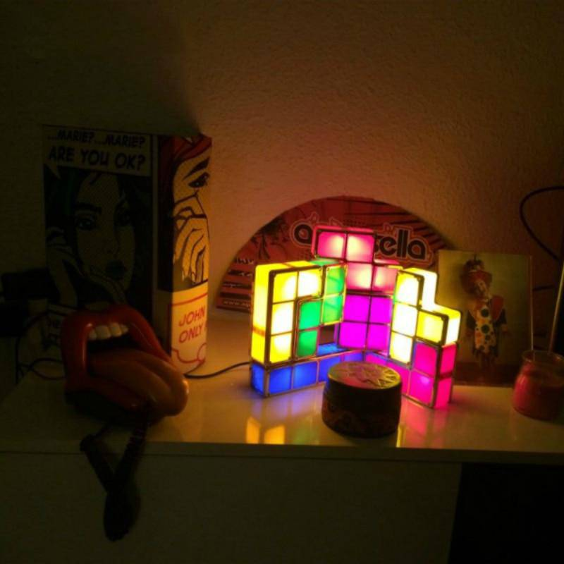 DIY Tetris Puzzle LED Light