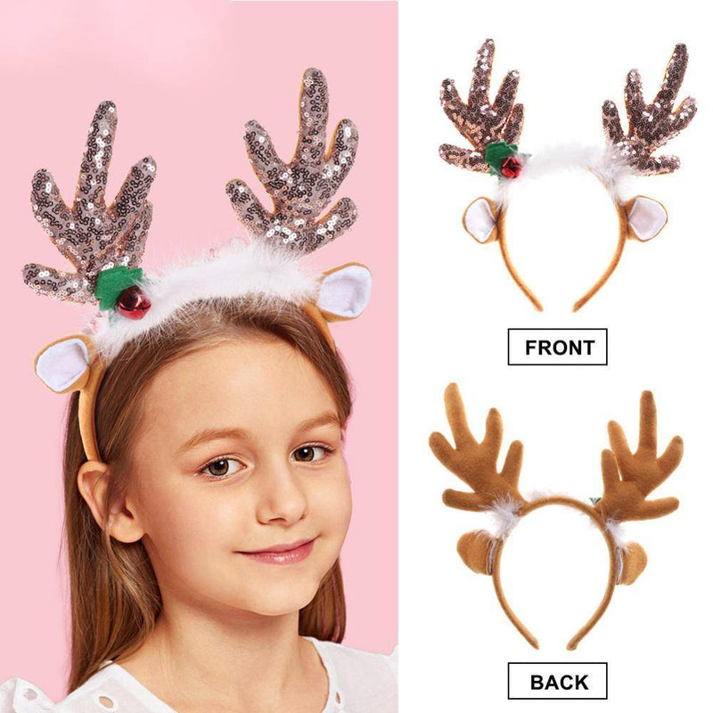 2PCS Adorable Reindeer Antlers Headbands
