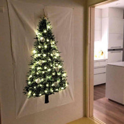Green Christmas Tree Tapestry