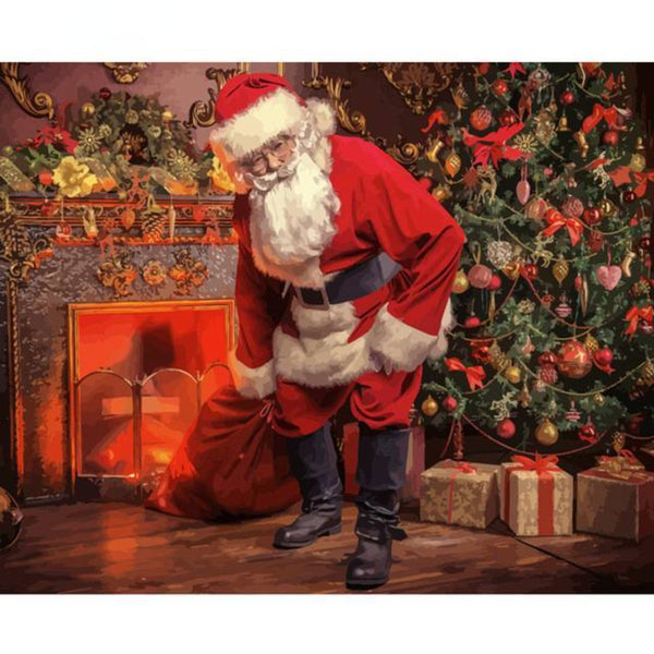 Santa Claus Painting By Numbers Kit