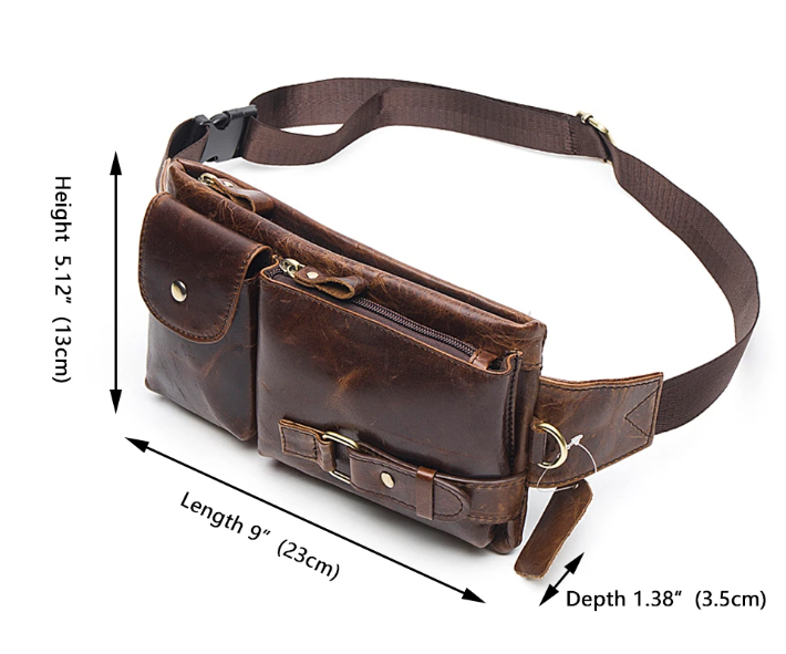URBAN LEATHER WAIST BAG