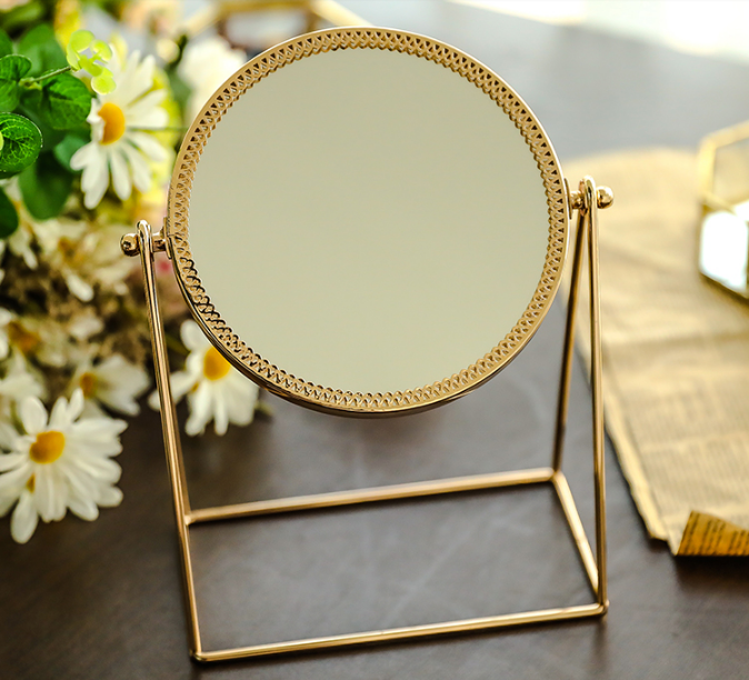 2019 Lady Gold Makeup Mirror - LEMI Décor