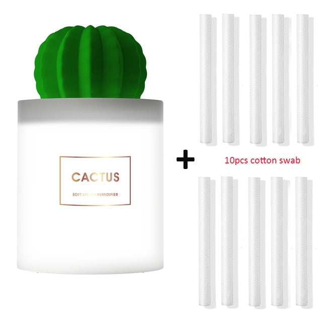 Cactus LED Light USB Humidifier