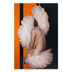 Feather Girl Canvas Paintings