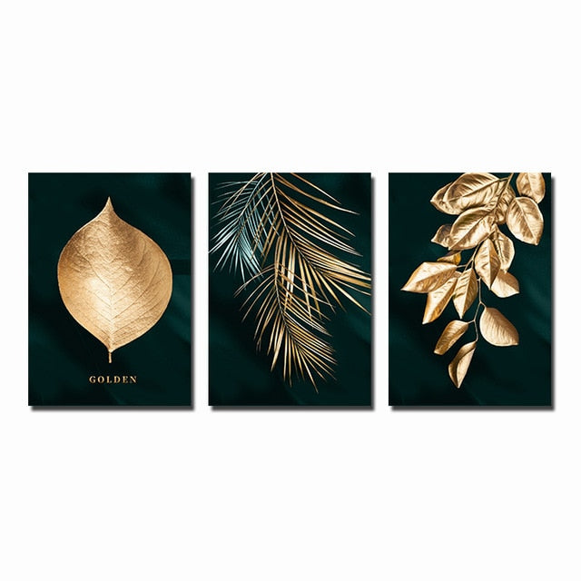 Golden Leaf Canvas Artwork