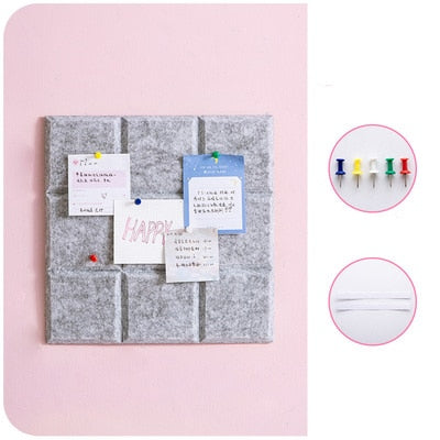 Kawaii Felt Display Board Decoration Set