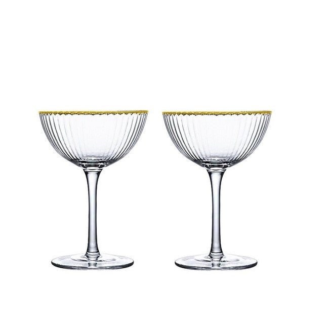 Callie Striped Cocktail Glass