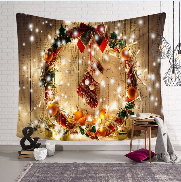 Cozy Christmas Eve Tapestry