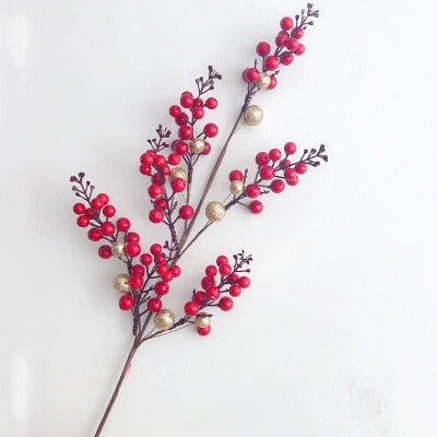 Christmas Berry & Pine Tree Branch