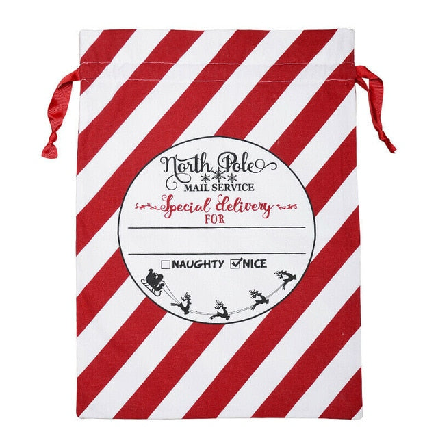 Christmas Canvas Gift Bags