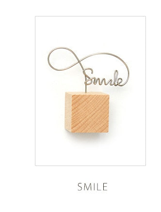 Grace Wooden Photo Clips