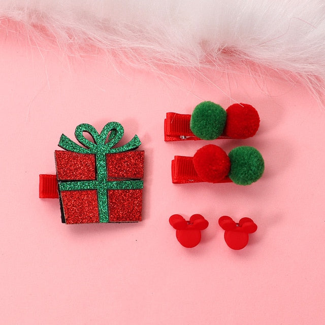 Baby Christmas Hair Clip Set