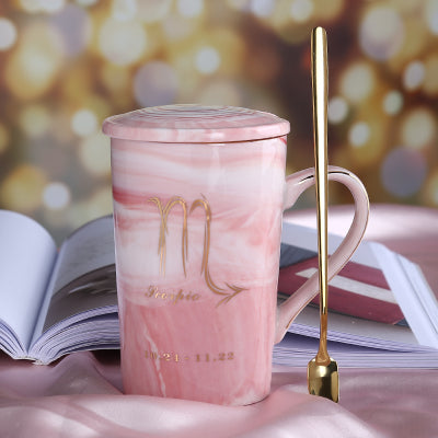 12 Zodiac Constellation Marble Mug - LEMI Décor