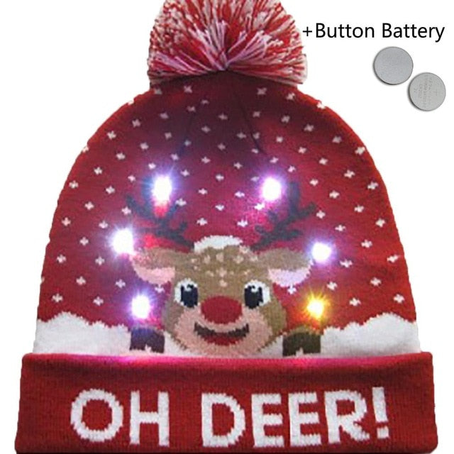Christmas LED Knitted Beanies