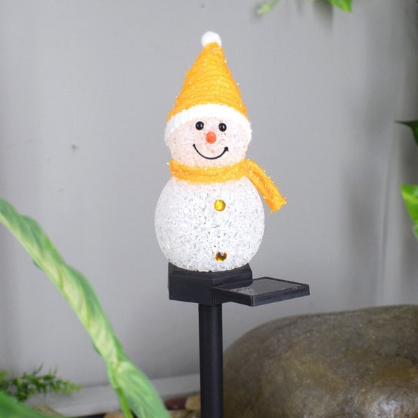 Cartoon Snowman Solar Outdoor Lights