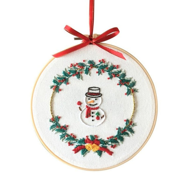 Christmas DIY Embroidery Ornament Kit