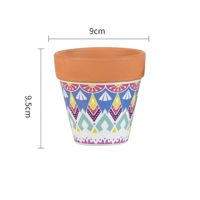 Retro Art Flower Pot with Shelf