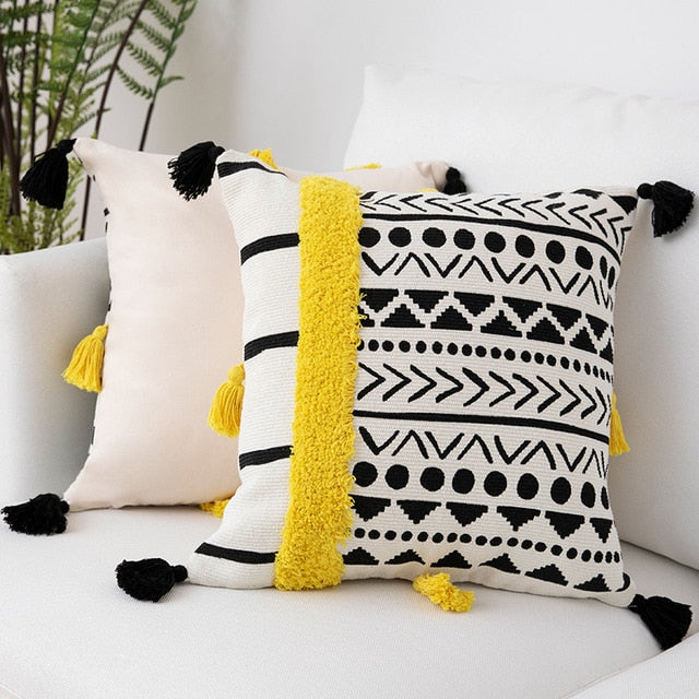 Sweet Boho Tassel Cushion Cover