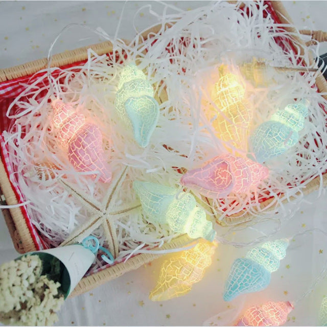 Star & Conch LED String Fairy Lights