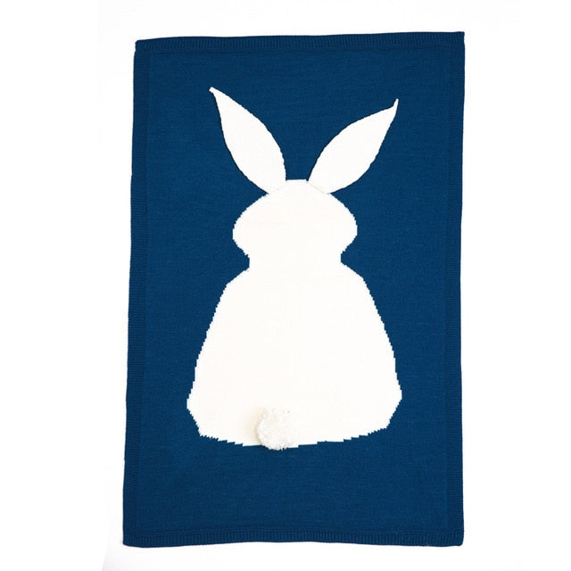 Cute Rabbit Baby Knitted Blankets