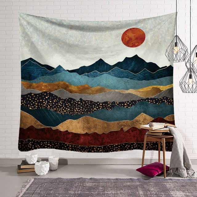 Majestic Eastern Sun Wall Hanging Tapestry