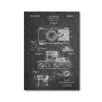 Retro Camera Blueprint Canvas