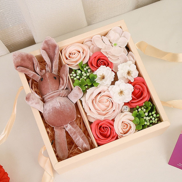 Flowers Bouquet Soap Rose Gift Box