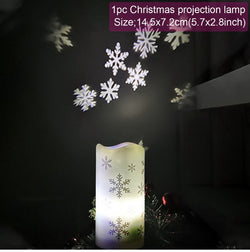 A Christmas Night Projection Candle