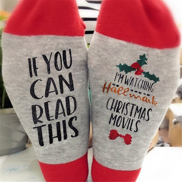 Christmas Hallmark Movie Socks