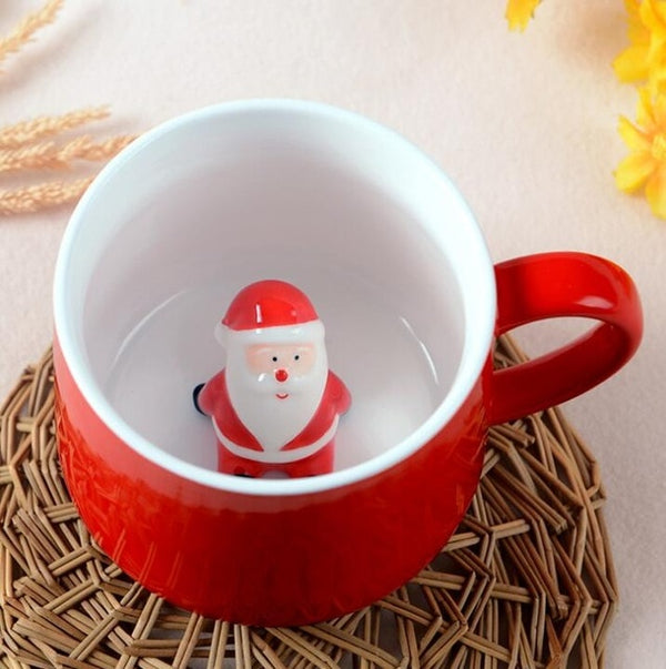 Christmas 3D Cartoon Animal Mugs