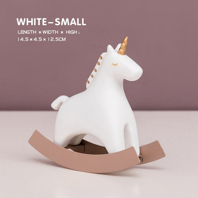 Resin Rocking Unicorn Ornament