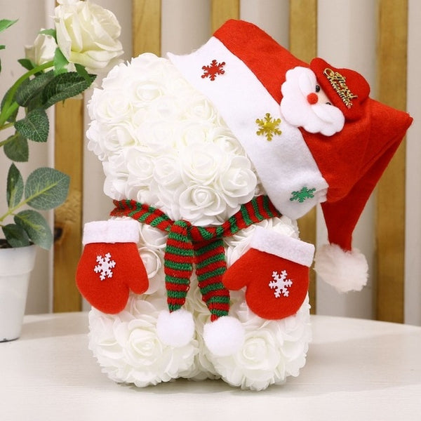 Christmas Teddy Rose Bear