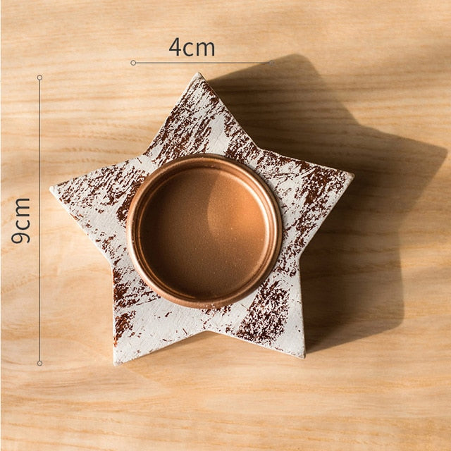 Lovely Star Shaped Candle Holder