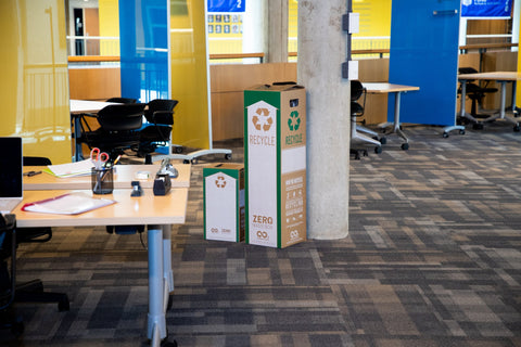 Zero Waste Boxes in an office