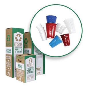 Plastic cups and Zero Waste Boxes
