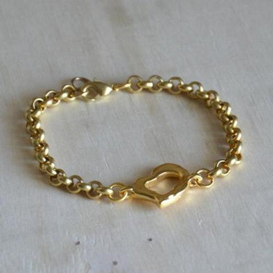 Armband mit Herz in Gold - Amor Amor Armband KOOMPLIMENTS