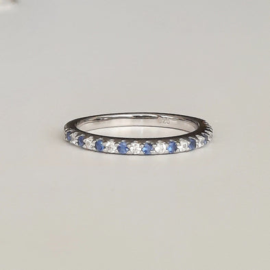 Damen Ring aus Silber mit Zirkonia Steinen - Blue Magic Ringe KOOMPLIMENTS