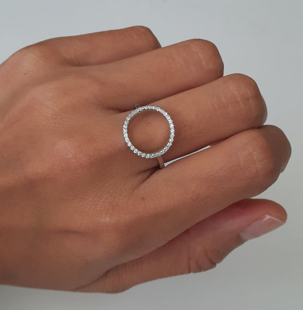 Damen Ring aus Sterlingsilber mit Zirkonien - Queen Ringe KOOMPLIMENTS