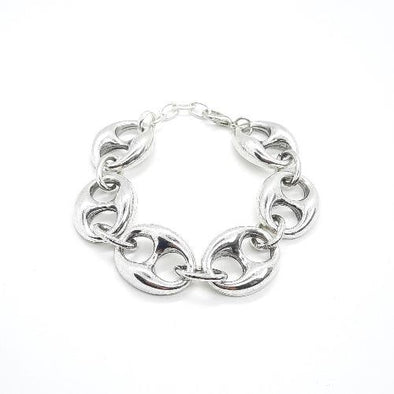 Grosses Silber Glieder-Armband - Links Armband KOOMPLIMENTS
